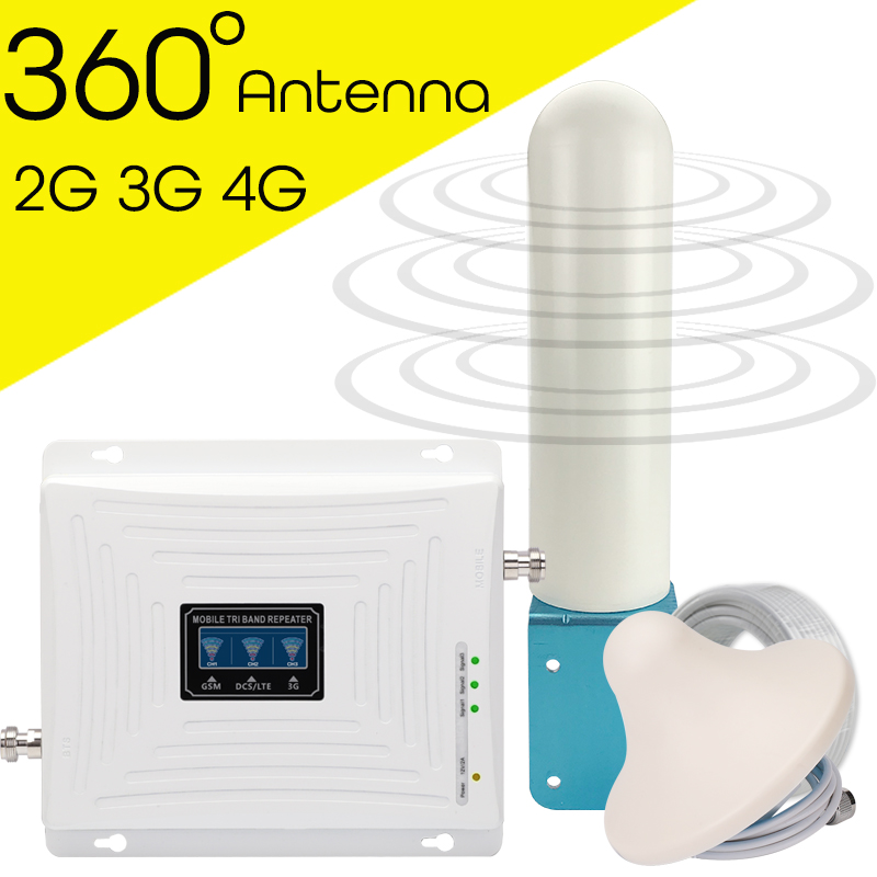 4g Signal Booster GSM 2g 3g 4g Cellular Signal Amplifier Mobile Phone Repeater 4g Internet Amplifier Omni Directional Antenna
