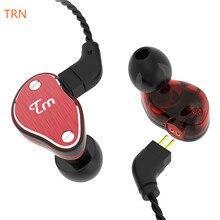 цена на High Quality TRN V60 1BA+2DD Hybrid In Ear Earphone HIFI DJ Monito Running Sport Earphone Earplug Headset with 2PIN Detachable