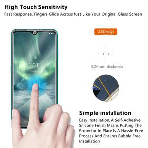 Image 3 - Tempered Glass For NOKIA 7.2 6.2 4.2 3 V 3.1 C 3.1 A 2.2 3.2 4.2 Screen Protector 9H Tempered Glass For Nokia 1 Plus X71 Film *