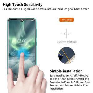 Image 3 - Vidro temperado Para NOKIA 7.2 6.2 4.2 3 V 3.1 C 3.1 A 2.2 3.2 4.2 Protetor De Tela 9H vidro temperado Para Nokia 1 Plus X71 Filme *