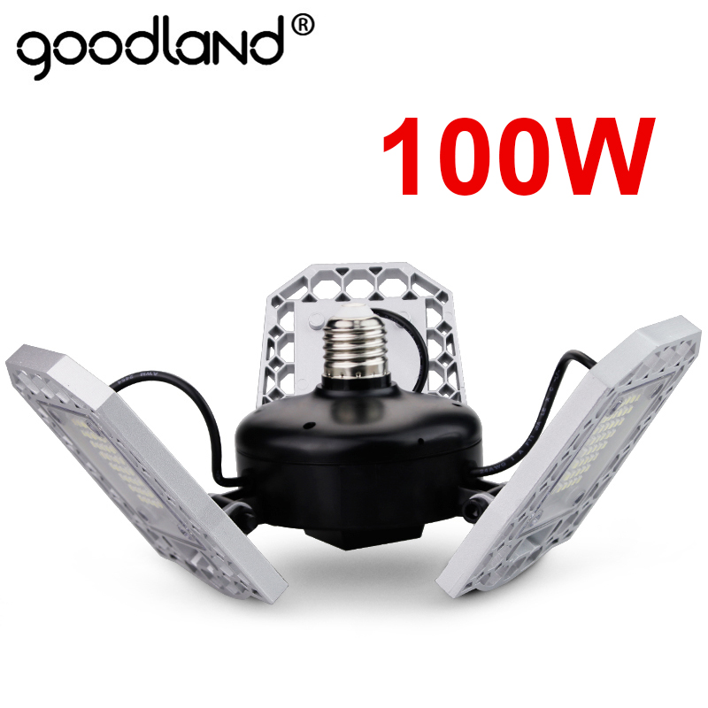 100W 80W 60W E27 LED Lamp 110V 220V LED Bulb Deformable High Power Smart Light For Warehouse Factory Garage Basement Gym