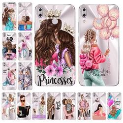 На Алиэкспресс купить чехол для смартфона fashion super mama girl baby painted case for asus zenfone 5z zs620kl cover zenfone 5 ze620kl x00qd transparent silicone shell