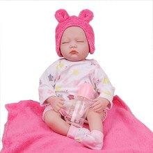 55cm silicone reborn bebês meninos meninas bonecas pano corpo bebe menina brinquedo infantil renascer bonecas boneca brinquedos para meninas presente