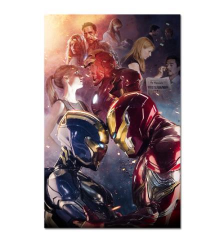 Современная Настенная живопись Мстители персонаж эндшпиль Железный человек Тор Капитан Америка постеры картина холст домашний декор - Цвет: Фиолетовый