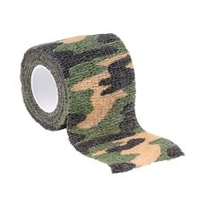 Elastic Camouflage Waterproof Outdoor Hunt Camping Stealth Camo Wrap Tape Military Airsoft Paintball Stretch Bandage(China)