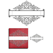Naifumodo Cuts Dies Lace Frame Border Metal Cutting Bookmark for DIY Scrapbooking Card Album Embossing Die Cut New Template