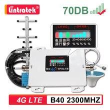 Lintratek 2300mhz bande 40 amplificateur de Signal 4G LTE amplificateur Internet TDD 2300 répéteur de téléphone portable antenne de criblage de plafond 10m Kit 6