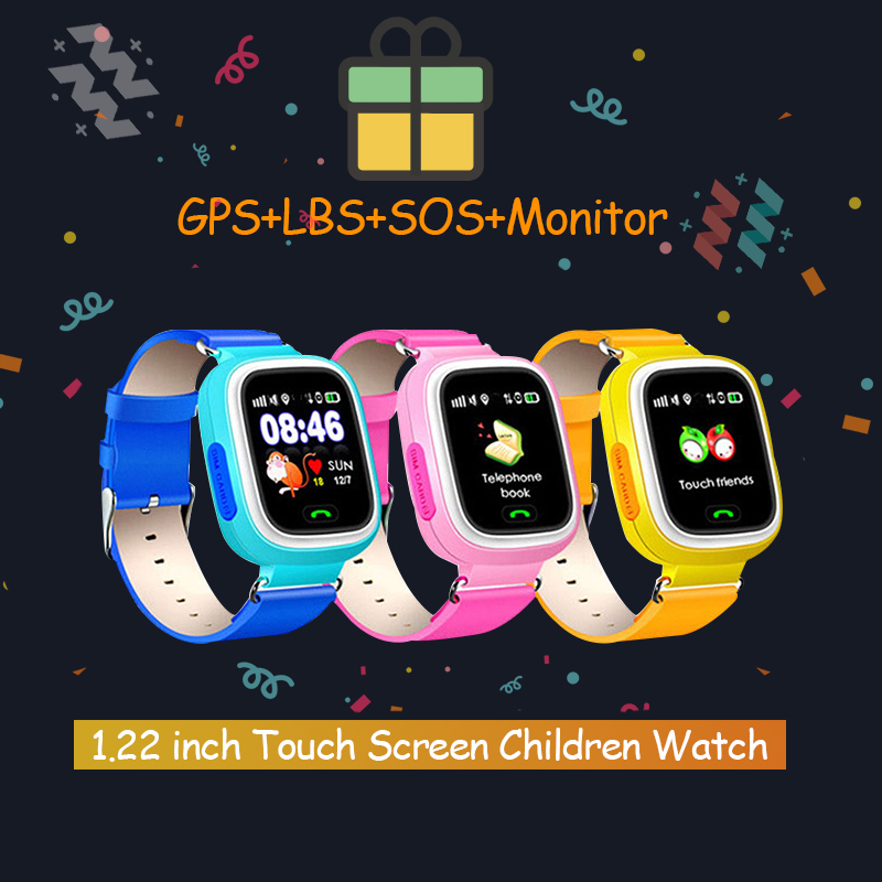 <font><b>Q90</b></font> <font><b>GPS</b></font> WIFI Touch Screen <font><b>GPS</b></font> Baby Anti-lost Smart Watch SOS Call Location Device Tracker Smartwatch English/Russian Version image
