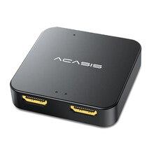 Acasis HD32 HDMI 호환 분배기 USB C 전원 1 In 2 Out 4K TV HDMI-분배기 오디오 주파수 나사 어댑터 커넥터