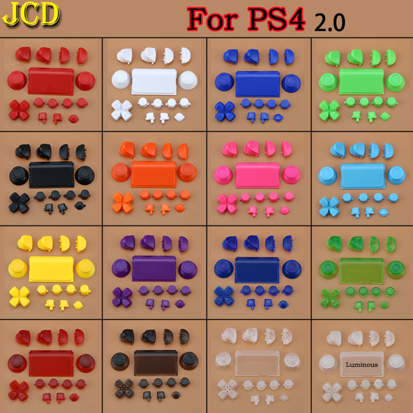 1Set Full Buttons Mod Kit For PlayStation Dualshock 4 PS4 2.0 Controller Joystick R2 L2 R1 L1 Trigger Buttons Game Accessories