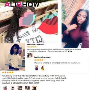 Image 5 - Alishow indien Afro crépus bouclés armure Remy pince à cheveux dans les Extensions de cheveux humains couleur naturelle pleine tête 10 pièces/ensemble 120G bateau gratuit