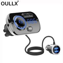 USB טעינה מהירה 3.0 מטען לרכב Bluetooth FM משדר MP3 נגן אלחוטי FM רדיו מתאם תמיכה 2 נייד טלפון חיבור