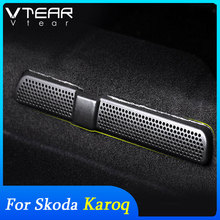 Vtear For Skoda Karoq Accessories interior Air outlet protection cover car seat bottom dust-proof Interior Anti-blocking Parts