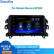 Dasaita Android 10 Radio del coche para Nissan Navara NP300 Multimedia 2014-2020 2Din Autoradio DSP IPS 1028*720 Carplay HDMI 4Gb + 64Gb