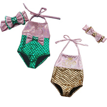 Swimwear Bikini Beachwear Baby-Girls Sleeveless Bow Cute Knot 2pcs-Set HALTER Lovely