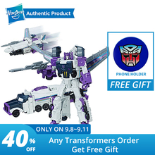 лучшая цена Hasbro Transformers Toys Generations Titans Return Voyager Decepticon Octone and Murk Action Figure Collection Model Car Toy