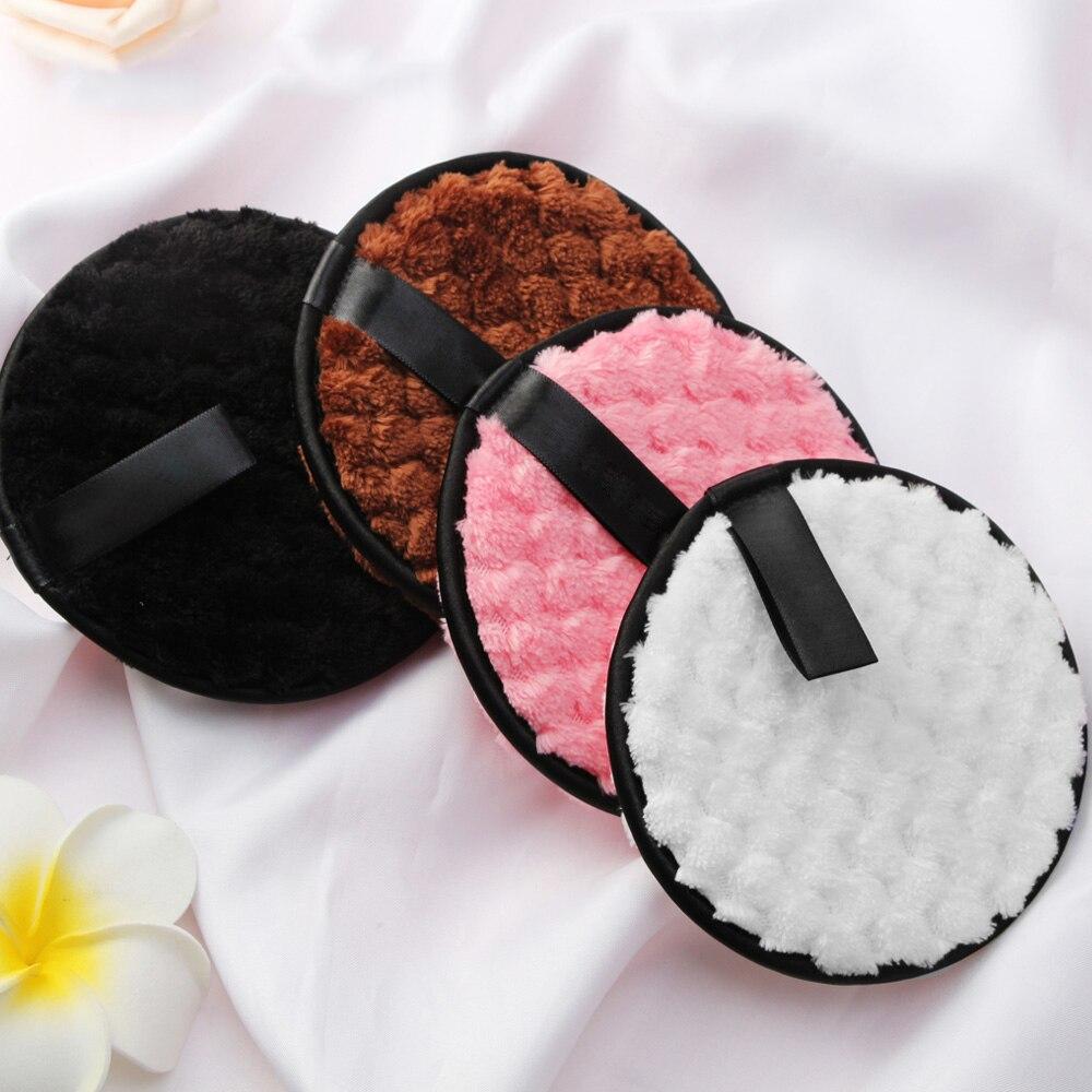 4 шт салфетки из микрофибры колодки для макияжа лица, для смешивания, спонж для снятия хлопок двойной слой уход за кожей лица Очищение Полоте...