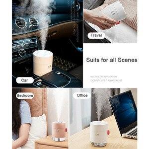 Image 2 - Taşınabilir Mini USB hava nemlendirici 2000mAh pil şarj edilebilir seyahat ev bebek ofis araba uçucu yağ aromaterapi difüzör