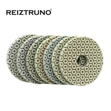 Reiztruno 4 inch 100mm Flexible Polishing Pads for grinding and polishing stone concrete,Thickness mm,wet or dry use