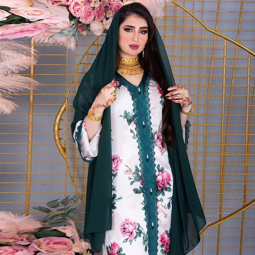 Abaya Dubai Turkey Arabic Hijab Muslim Satin Dress Islamic Clothing
