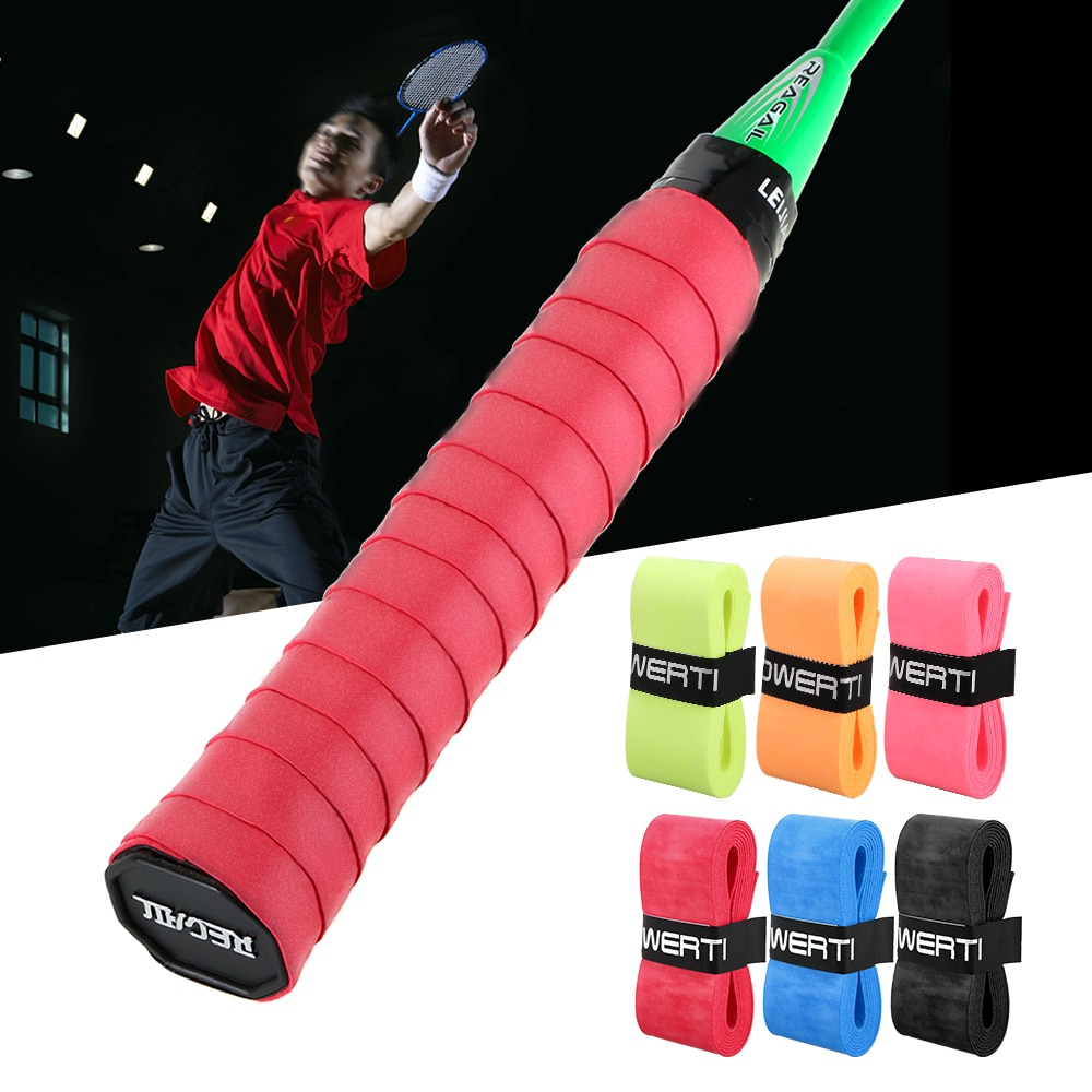 6Pcs Tennis Racket Grips Anti-skid Badminton Racquet Grips Vibration Overgrip Sweatband Tennis Racket
