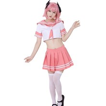 Costume de Cosplay danime Fate Astolfo, tenue de marin, uniforme décole JK, tenue de fantaisie pour femme, Costume dhalloween Anime