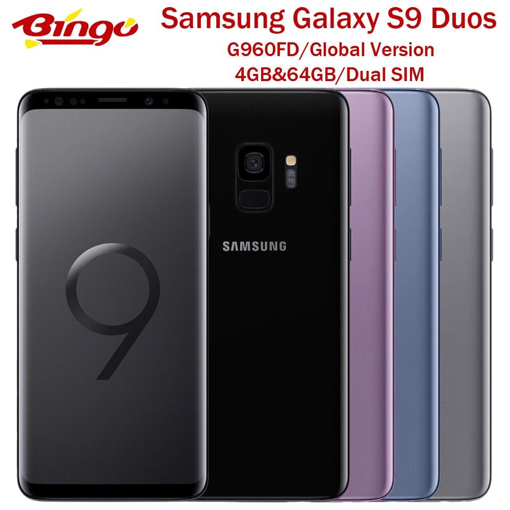 """Samsung-teléfono inteligente Galaxy S9 G960FD, versión Global, Original, Exynos Octa Core, 5,8 """", y 8MP 12MP, 4GB de RAM, 64GB de ROM, NFC, Tarjeta SIM Dual"""