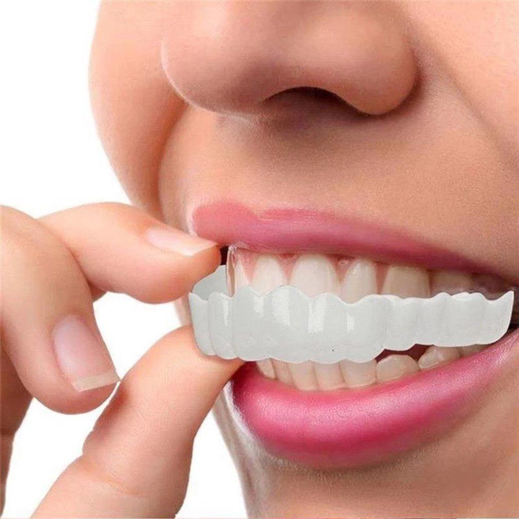 Perfect Smile Snap-On Bracket Upper Teeth Simulation Braces Whitening Set Second Generation Silicone Simulation Teeth Dentures