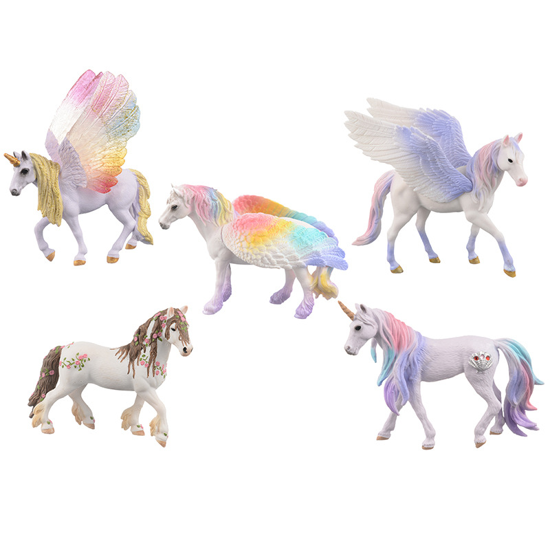 new Pegasus Doll <font><b>Toy</b></font> Simulation Mini Animal <font><b>Model</b></font> Unicorn Flying <font><b>Horse</b></font> <font><b>Figure</b></font> <font><b>Model</b></font> Wild <font><b>Figures</b></font> Kids <font><b>Toys</b></font> Figurine image
