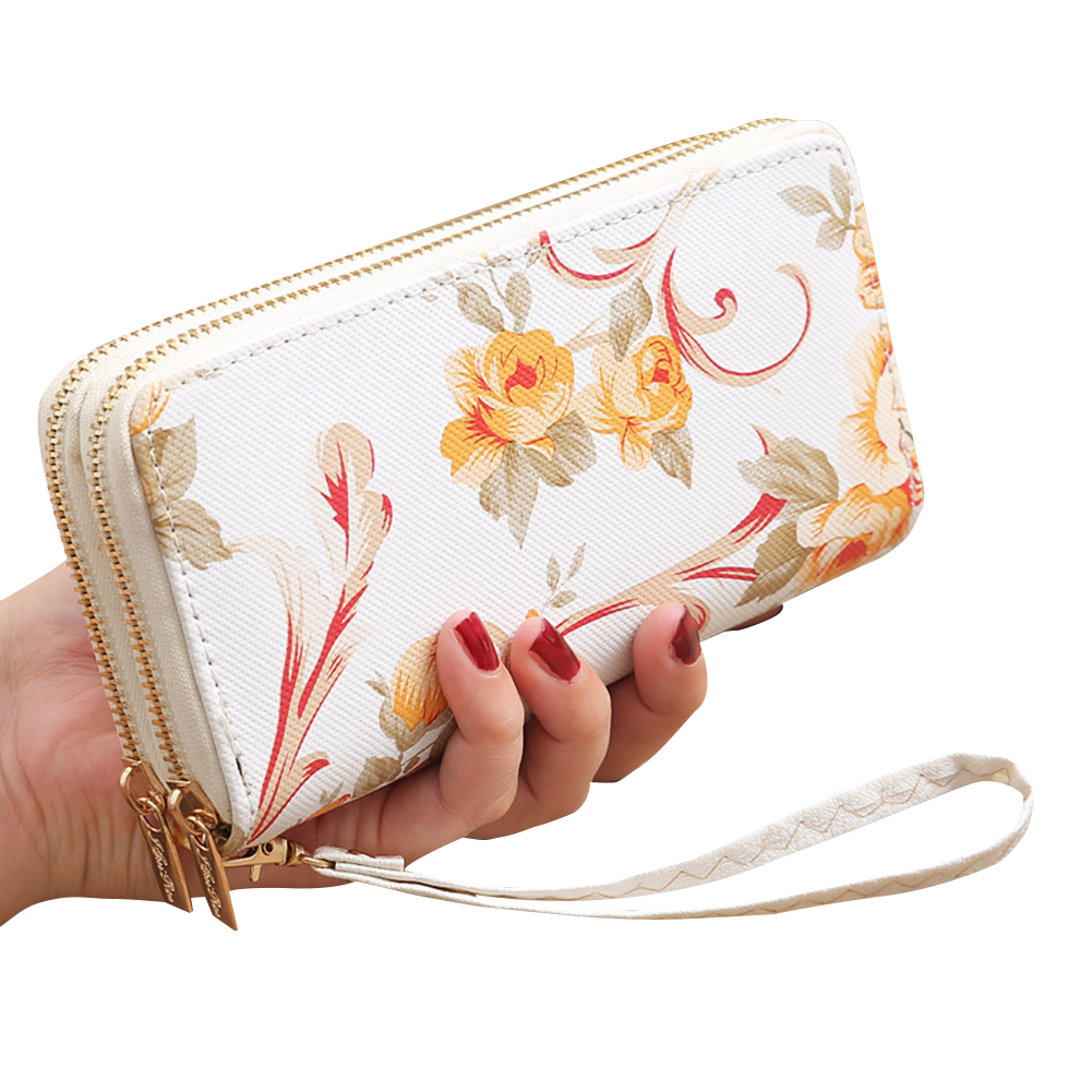 NEW Women's Wallet Long Floral Floral Clutch ID Credit Card Holder Purse Phone Handbag