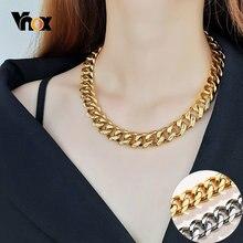 Vnox массивная Тяжелая панк цепочка ожерелье для женщин и мужчин