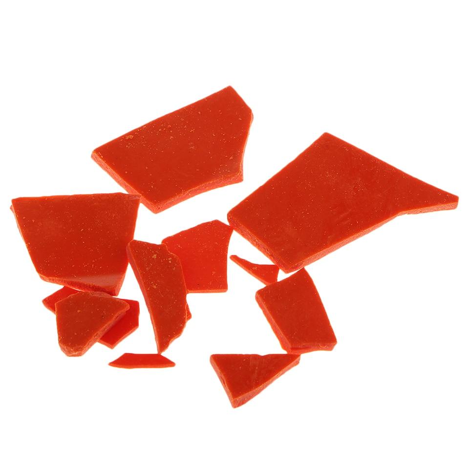 Irregular Candle Dye Chips Blocks Natural Plant Pigment for DIY Candle Coloring Orange