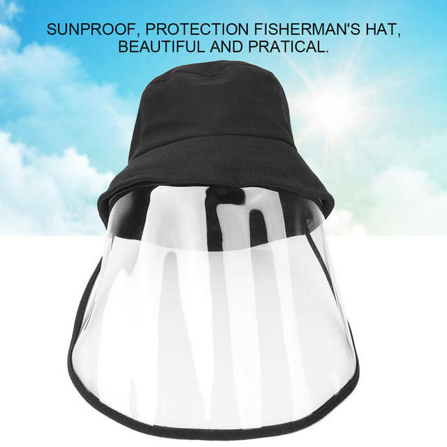 Protective Face Shield Protective Sunproof Fisherman's  Hats with Anti-Saliva Transparent Face Shield Protection Equipment 1