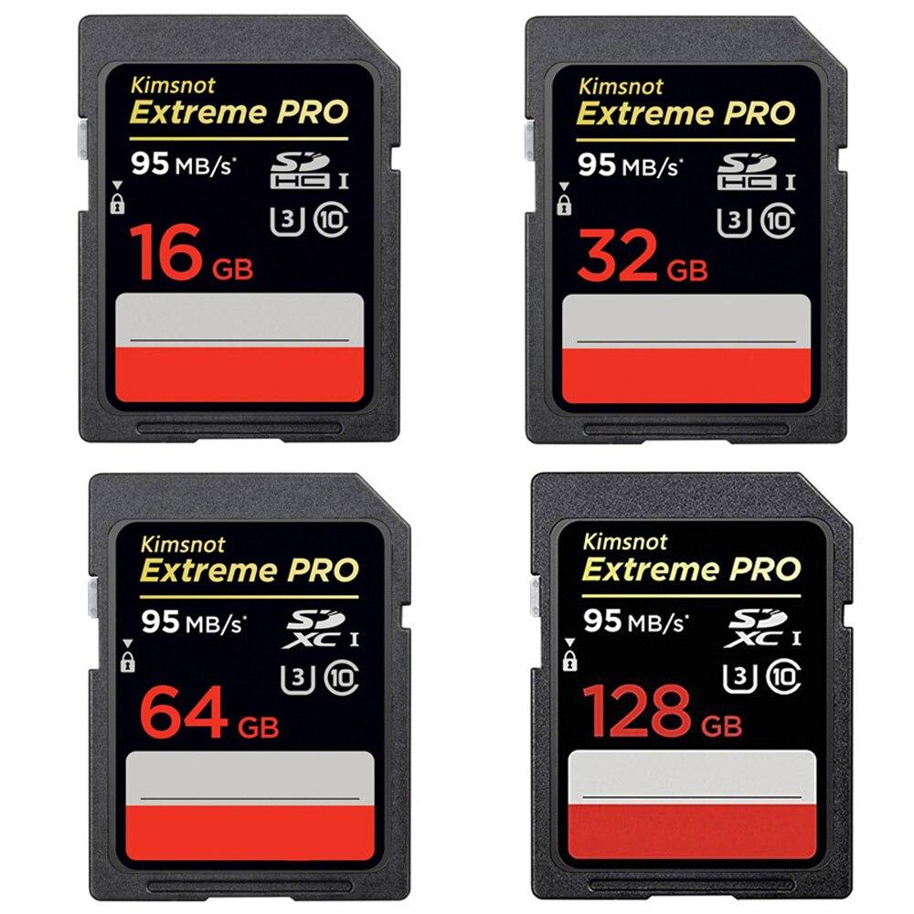 Kimsnot 633x профессиональная карта памяти SDXC карта 64 Гб 128 ГБ 256 Гб SD-карта класс 10 32 Гб 16 Гб SDHC карта высокая скорость 95