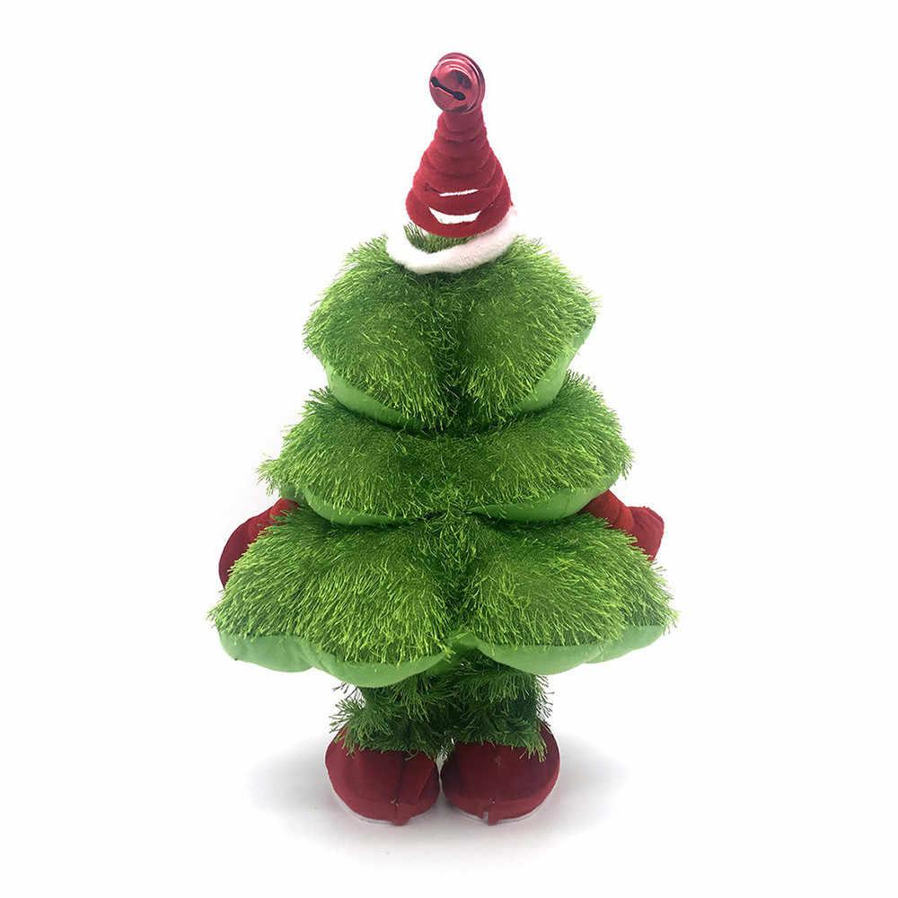 ไฟฟ้าของเล่นดนตรีคริสต์มาสต้นไม้ร้องเพลงเต้นรำและ Moving Xmas Tree หมวกคริสต์มาสของขวัญเด็ก N2550n15