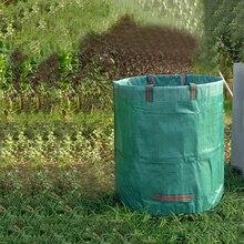 Garden Waste Bag Weeds Leaves Bin Large Cutting Sack Portable Carry Bag Garden Yard Supplies Cleaning Box