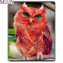 Алмазная картина «сделай сам» с животными красная сова ветки