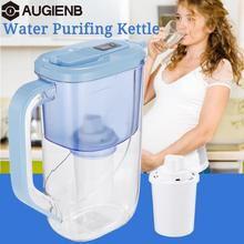 AUGIENB Water Pitcher 4 Stage Ionizer Filtration System Household 2.4L Water Filter Purifier Kettle Home Healthy Drink Machine