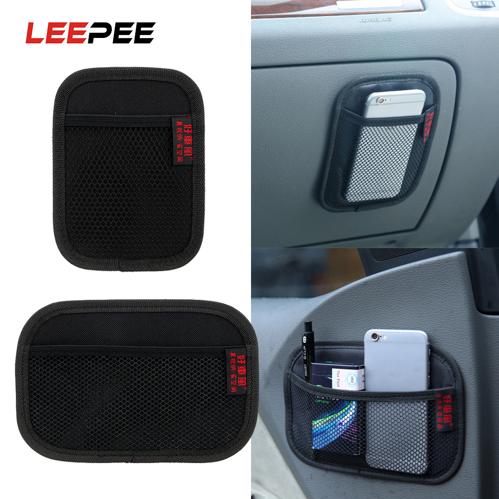LEEPEE Stowing Tidying Oxford Fabric Car Storage Net Bag Automotive Pocket Multi-use Car Seat Back Organizer