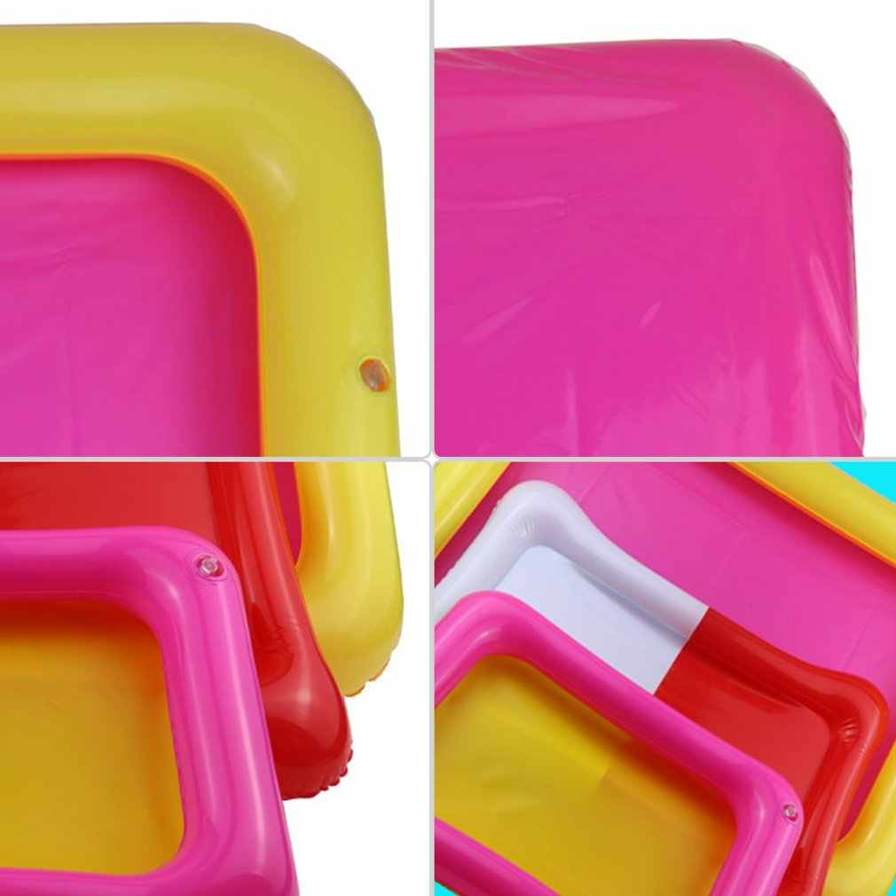 พองทรายถาดปราสาทมือถือ PVC Sandbox ประสาทสัมผัสถาดตลกเล่นในร่มของเล่นสระว่ายน้ำถาดสำหรับเด็ก
