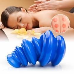 Силиконовые банки для массажа с отрицательным давлением, массажные чашки для тела, вакуумные банки для массажа, детоксикации тела, снятия у...