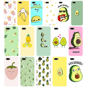 96AA Cute cartoon avocado Soft Silicone Tpu Cover phone Case for Huawei Honor 7A PRO 5.45 5.7 7C 7X Y5 2018