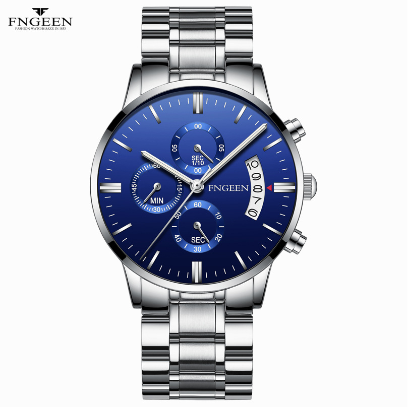 New Fashion Mens Non Mechanical Watches Top Brand Luxury Male Clock Business Men Watch Automatic Date Hodinky Relogio Masculino