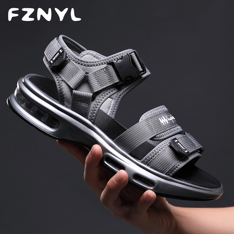 FZNYL Air-Cushion Damping Sandals Men 2019 Fashion Summer Beach Sandal Comfortable Breathable Mesh Outdoor Travel Casual Shoes