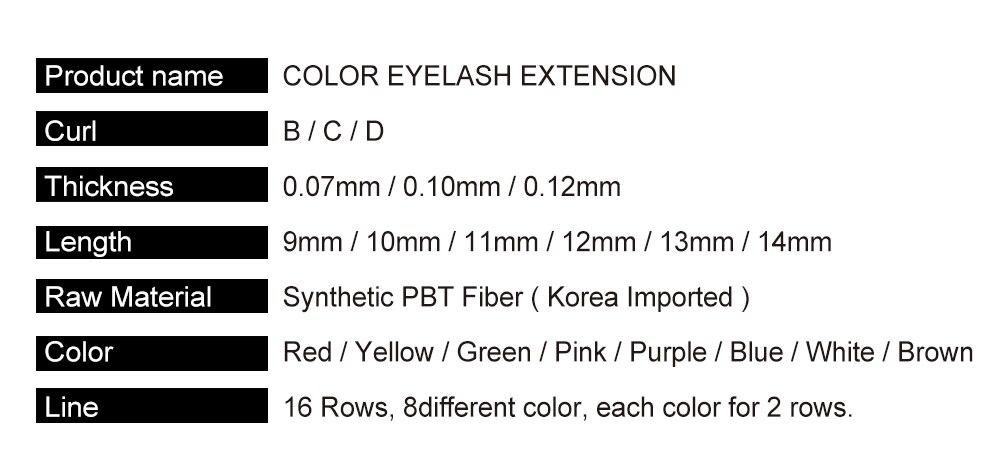 cílios extensão colorido vison cílios falsos