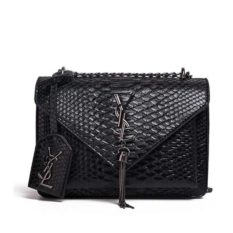 Fashion Lady Snake Pattern Totes Bag Famous Brand Female Bag Women Wild Shoulder Messenger Bag Leather Handbag Beach Phone Bags