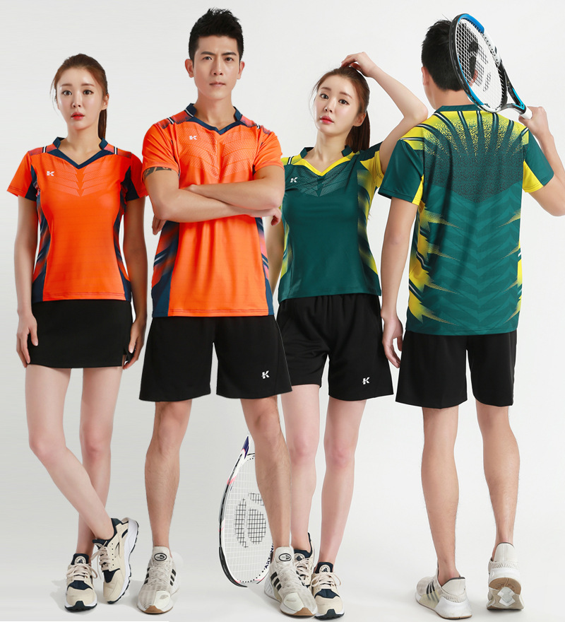 Badminton Clothing For Men And Women Short Sleeve Set Sports Clothing Quick-Dry Breathable Tennis Clothes Set Table Tennis Wear