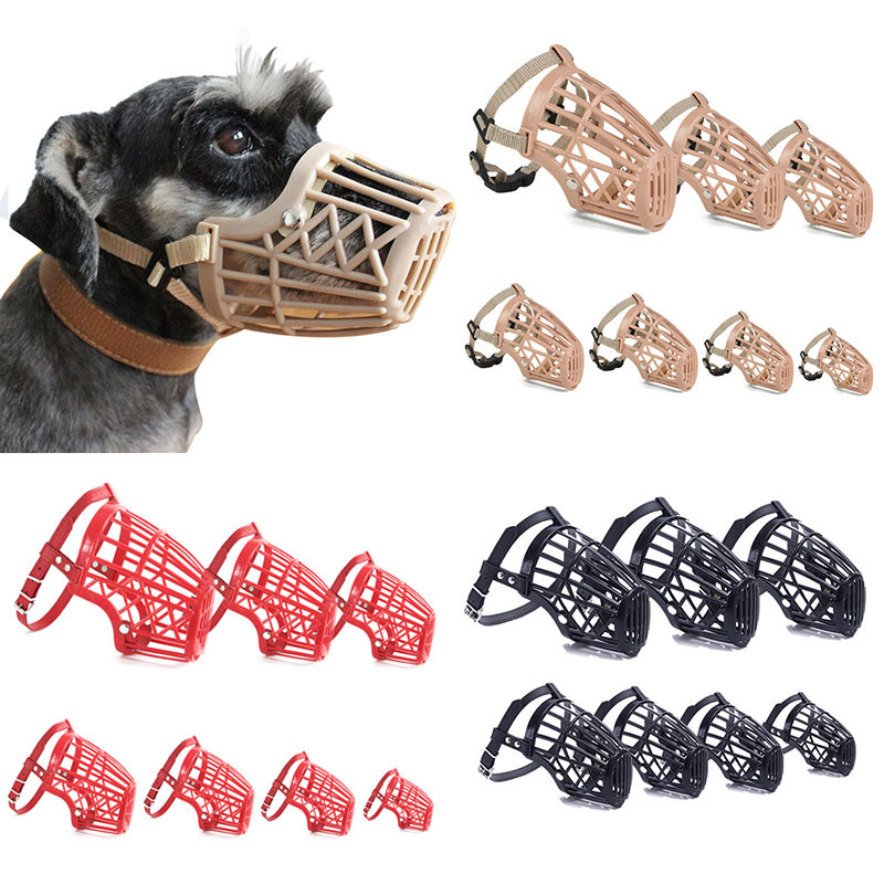 New Pet Dog Muzzles 2 Kinds style Environmental Protection Rubber Dog Cover for Puppy and Medium Dog collar Pet Supplies XS-XXXL
