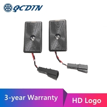 QCDIN LED باب السيارة مصباح شعار LED ترحيب ضوء شعار العارض ل تسلا 3 نموذج 3 / S / X / Y فائقة مشرق HD