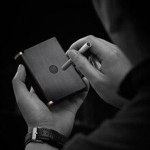 木製ポータブルシガレットケース女性罰金煙20男性のビジネス紫白檀/アフリカローズウッド誕生日プレゼント